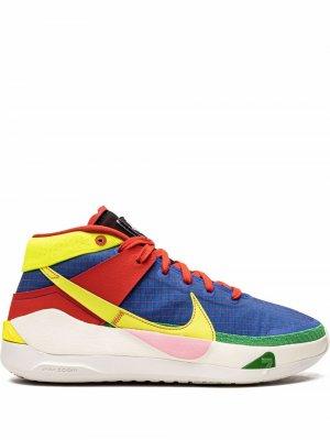 Высокие кроссовки KD13 Nike. Цвет: синий