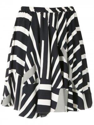Расклешенная юбка с принтом Gloria Coelho. Цвет: белый