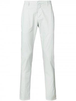 Классические зауженные брюки Dondup. Цвет: серый