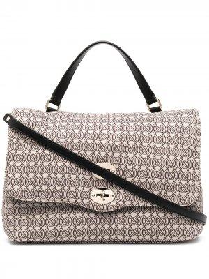 Большая сумка-тоут Postina с логотипом Zanellato. Цвет: нейтральные цвета