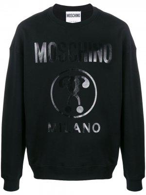 Толстовка с логотипом Moschino. Цвет: черный