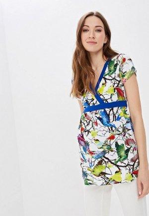 Блуза Очаровательная Адель. Цвет: разноцветный