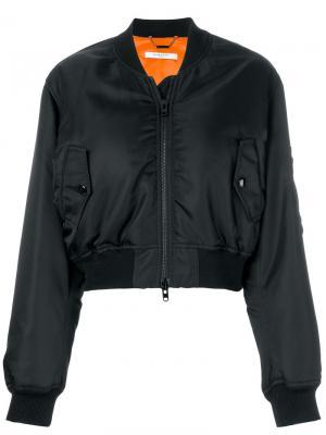 Укороченная куртка бомбер Givenchy. Цвет: черный