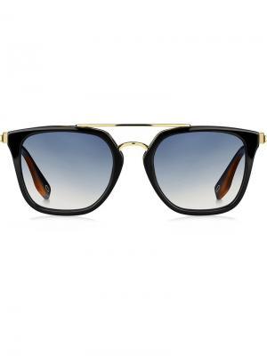 Солнцезащитные очки в квадратной оправе Marc Jacobs Eyewear. Цвет: черный
