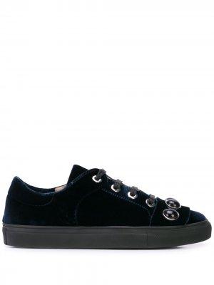 Декорированные бархатные кроссовки Alberto Fermani. Цвет: синий
