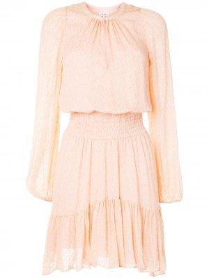 Платье асимметричного кроя с длинными рукавами A.L.C.. Цвет: розовый