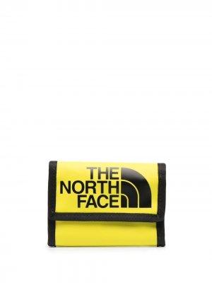 Кошелек с логотипом The North Face. Цвет: желтый
