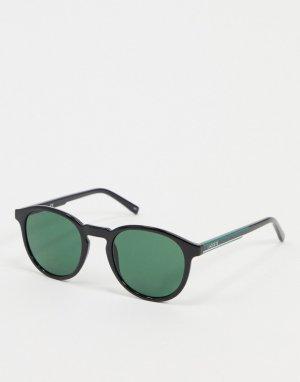 Черные круглые солнцезащитные очки Sport Inspired-Черный Lacoste