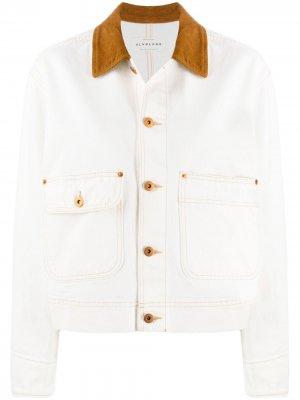 Джинсовая куртка New Thompson Slvrlake. Цвет: белый