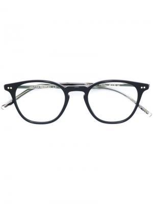 Очки Hanks в круглой оправе Oliver Peoples. Цвет: черный