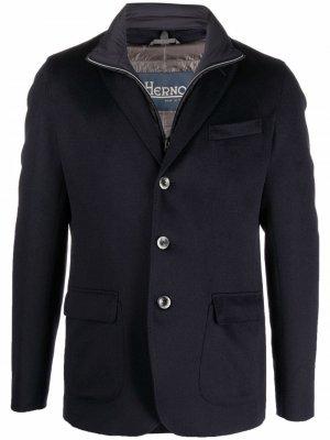 Дутый пиджак Herno. Цвет: синий