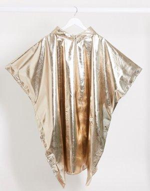 Золотистое пончо металлик -Золотой Monki