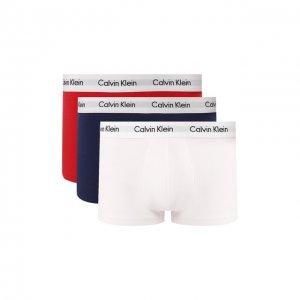 Комплект из трех хлопковых боксеров Calvin Klein. Цвет: разноцветный