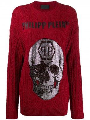 Пуловер с декором Skull Philipp Plein