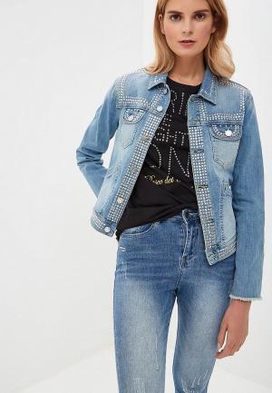 Куртка джинсовая Silvian Heach. Цвет: голубой