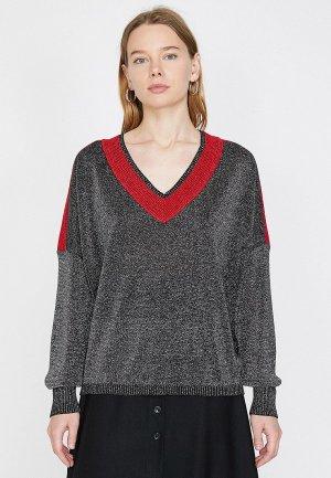 Пуловер Koton. Цвет: серебряный