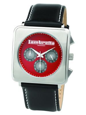 Часы Lambretta Cassola leather chrono red. Цвет: черный