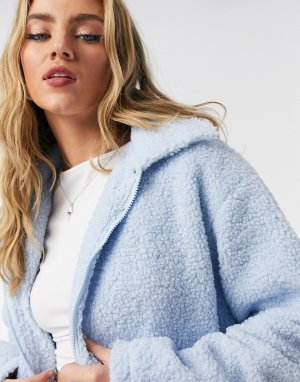 Куртка дальнобойщика из фактурного флиса с карманами -Синий Daisy Street