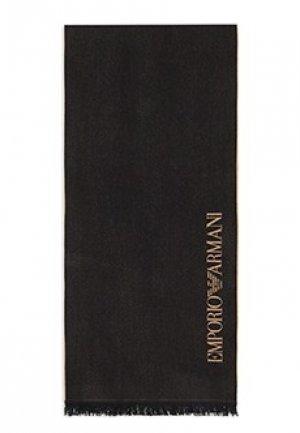 Шарф EMPORIO ARMANI. Цвет: черный
