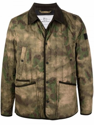 Камуфляжная куртка Barrier Woolrich. Цвет: нейтральные цвета