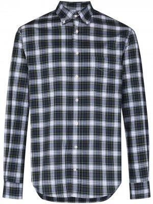 Рубашка Daywatch в клетку Gitman Vintage. Цвет: зеленый