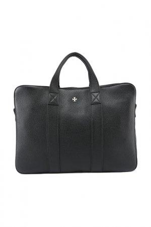 Портфель-сумка Narvin. Цвет: черный