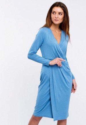 Платье Апрель. Цвет: голубой