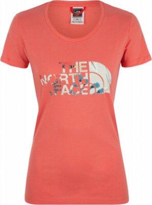 Футболка женская Easy, размер 44 The North Face. Цвет: розовый