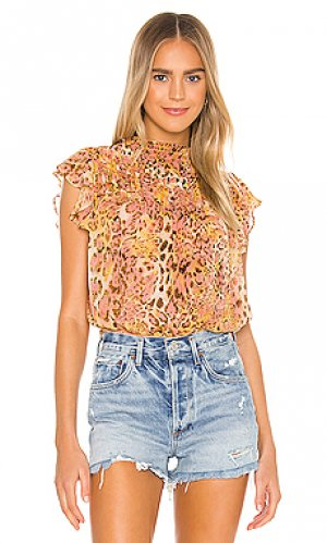 Блузка briana Bardot. Цвет: оранжевый