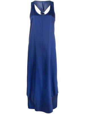 Платье с декором Gancini Salvatore Ferragamo. Цвет: синий