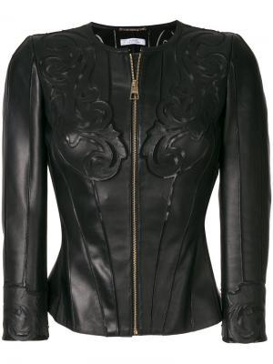Куртка с тиснением Versace Collection. Цвет: черный