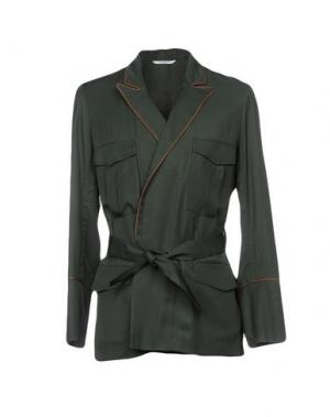 Пиджак UMIT BENAN. Цвет: темно-зеленый