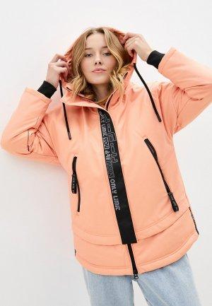 Куртка утепленная Alpex. Цвет: коралловый