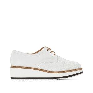 Ботинки-дерби LaRedoute. Цвет: белый