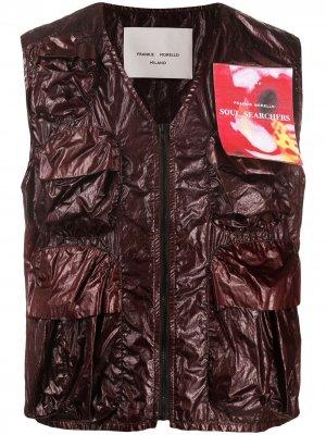 Zipped multi-pocket gilet Frankie Morello. Цвет: фиолетовый