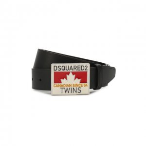 Кожаный ремень Dsquared2. Цвет: чёрный
