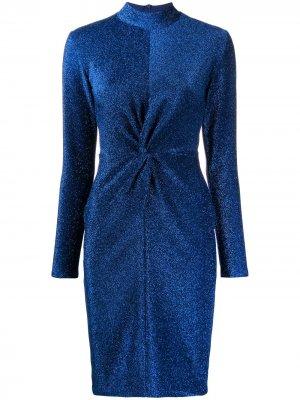 Платье с блестками Karl Lagerfeld. Цвет: синий