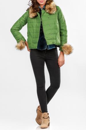 Куртка Cocogio. Цвет: зеленый