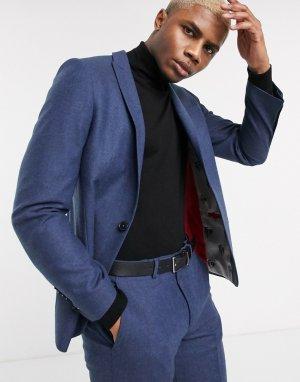 Темно-синий пиджак Twisted Tailor