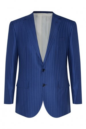 Голубой костюм из шерсти Stefano Ricci. Цвет: синий