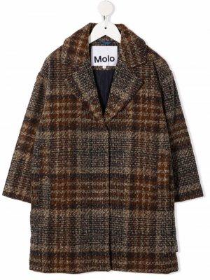 Пальто в клетку Molo. Цвет: коричневый