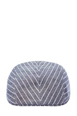 Льняная кепка-коппола в полоску BRUNELLO CUCINELLI. Цвет: синий