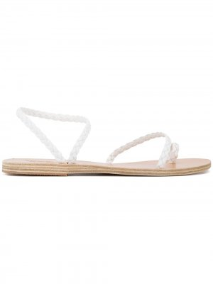 Плетеные сандалии Eleftheria Ancient Greek Sandals. Цвет: белый