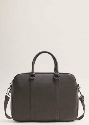 Зернистый портфель-тоут с карманами - Computer Mango. Цвет: коричневый