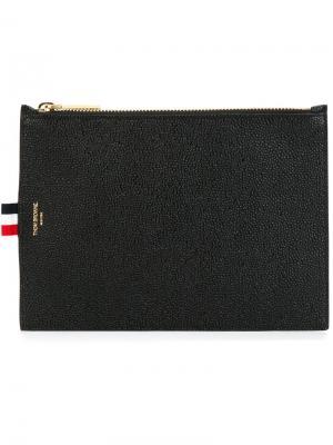Большой кошелек для монет Thom Browne. Цвет: черный