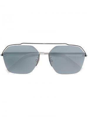 Солнцезащитные очки в квадратной оправе Fendi Eyewear. Цвет: белый