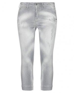 Джинсовые брюки-капри MELTIN POT. Цвет: серый