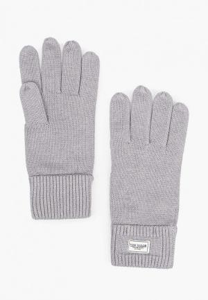 Перчатки Tom Tailor. Цвет: серый