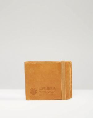 Кожаный бумажник Endure Element. Цвет: рыжий