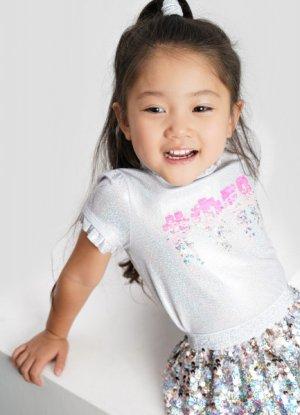 Трикотажная блузка для девочек O`Stin. Цвет: белый